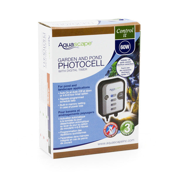 Photo of Aquascape 12 Volt Photocell with Digital Timer - Marquis Gardens