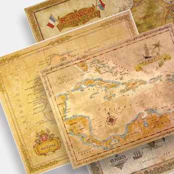 Antique Style Maps