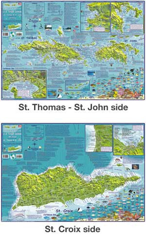 U.S. Virgin Islands Guide Map by Franko