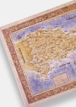 Dominican Republic Antique Style Map
