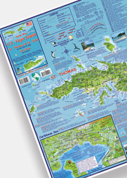 U.S. Virgin Islands Adventure Guide & Dive Map by Franko