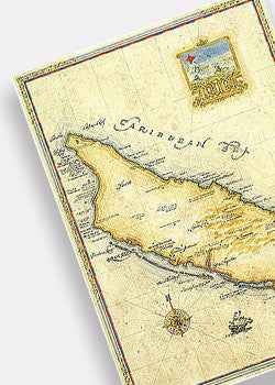 Aruba Antique Style Map