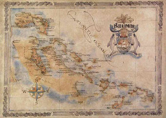 Bahamas Antique Style Map