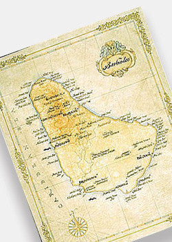 Barbados Antique Style Map
