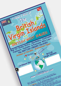 British Virgin Islands Dive Map by Franko