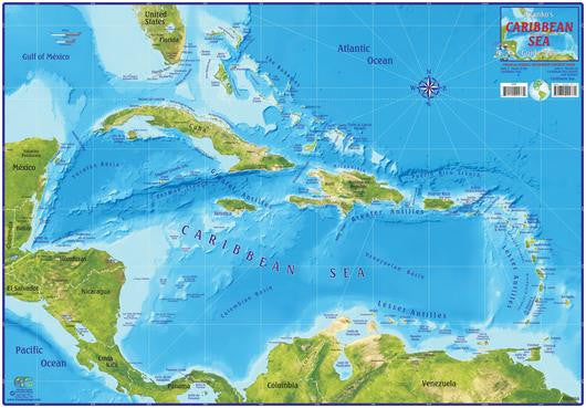Caribbean Sea Guide Map by Franko