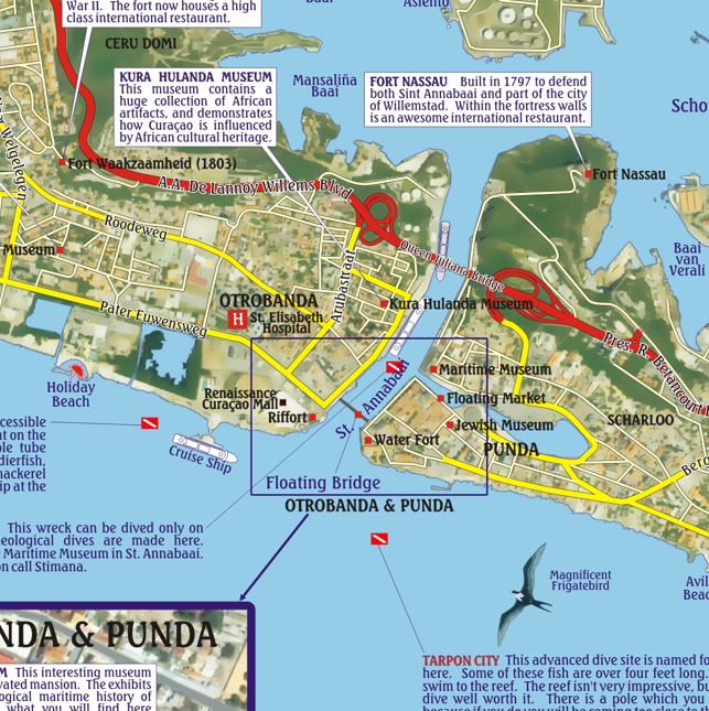 Curacao Guide & Dive Map by Franko – caribmart