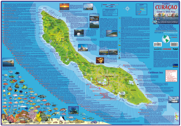 Curacao Guide & Dive Map by Franko