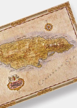 Jamaica Antique Style Map
