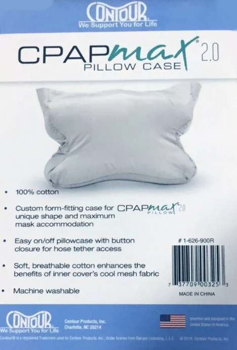Contour CPAP Max Pillow Case - White (pack of 4)