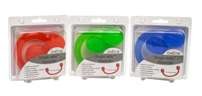 CanDo Jelly Expander Single Exerciser, 3-Piece Set (red, green, blue)