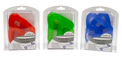 CanDo Jelly Expander Double Exerciser, 3-Piece Set (red, green, blue)