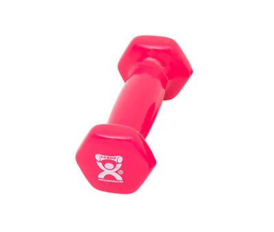 CanDo Vinyl Coated Dumbbell, 1lb., Pink