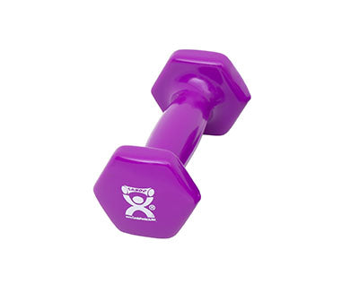 CanDo Vinyl Coated Dumbbell, 2lbs., Violet