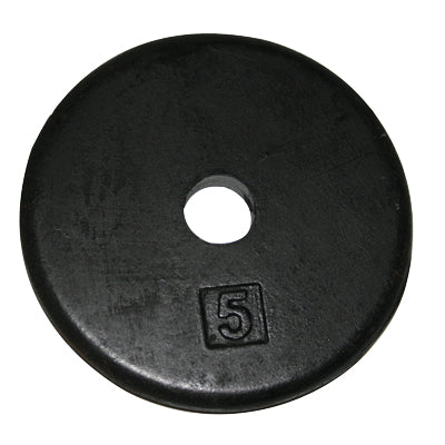 Iron Disc Weight Plate, 5lbs.