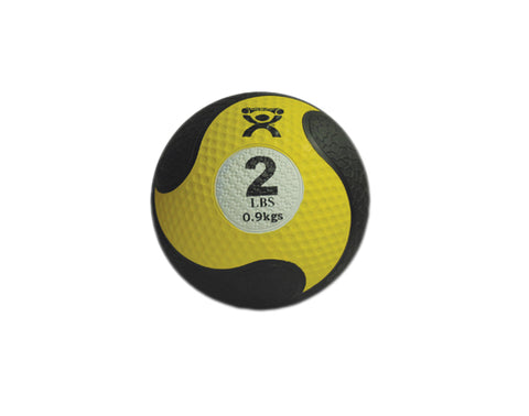 "CanDo Firm Medicine Ball, 8"" Diameter, Yellow, 2lb."