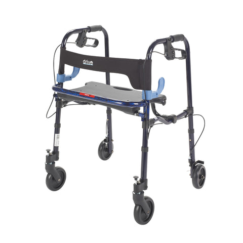 "Clever Lite Walker Rollator, Junior, 5"" Wheels, Flame Blue"