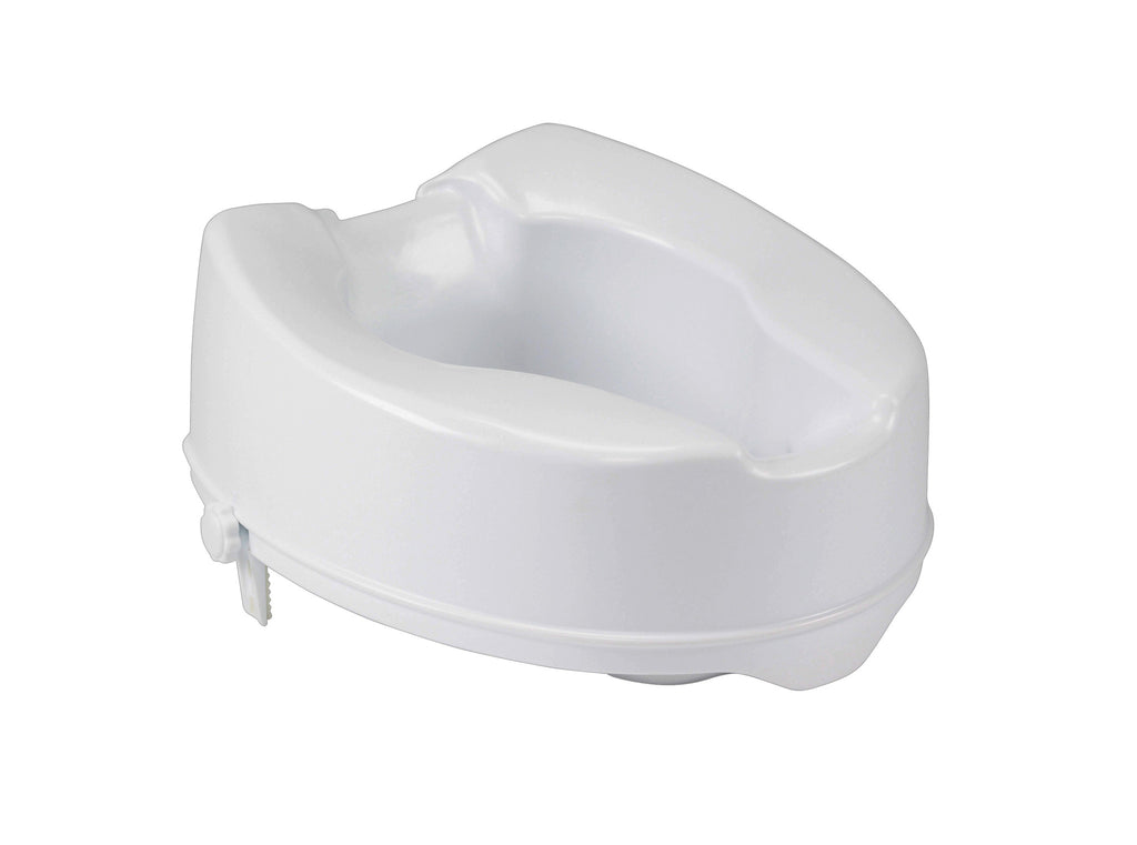 Raised Toilet Seat with Lock, 6""
