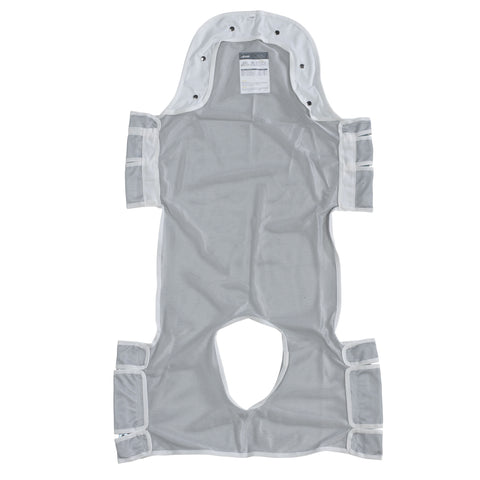"Patient Lift Sling with Head Support and Commode Opening, 53"" x 30"""