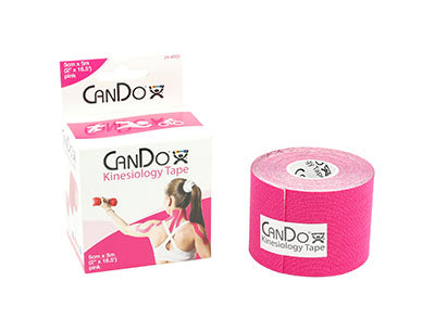 "CanDo Kinesiology Tape, 2""x16.5 ft. roll, Pink (1EA)"