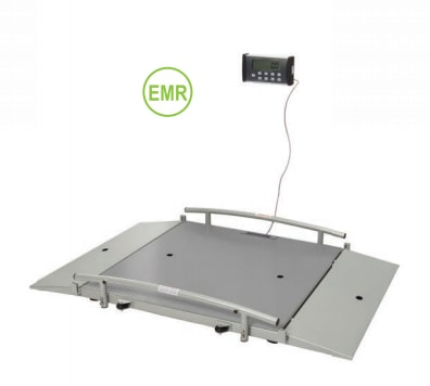 "Health O Meter Portable Digital Wheelchair Dual Ramp Scale (44""x42"" platform)"