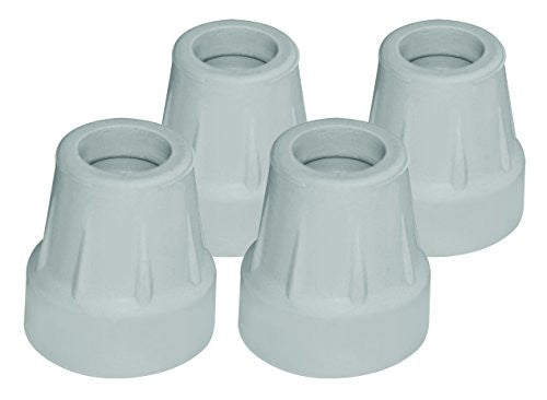 "Carex Gray Cane Tips, 5/8"" (pack of 4)"