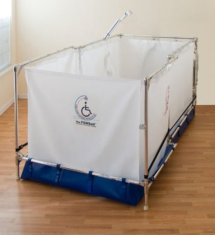Reclining Portable Wheel Chair Handicapped Showers System (10-year Warranty on Frame) Made in the USA