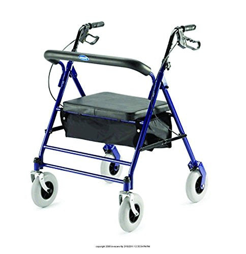 Invacare Bariatric Rollator with Carry Pouch