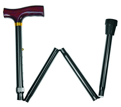 Carex Derby Folding Cane (Black)