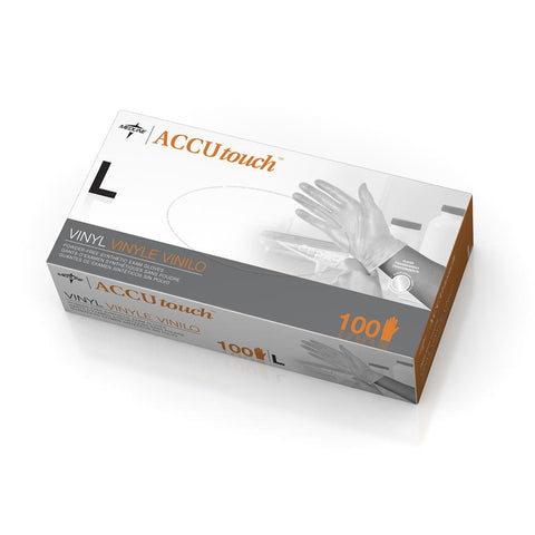 Accutouch Synthetic Exam Gloves,Clear,Large (case of 1000)