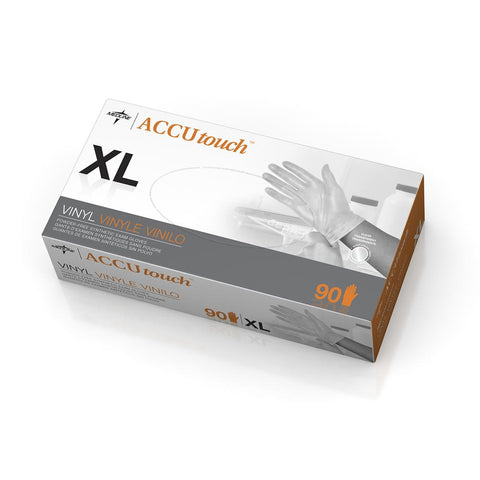 Accutouch Synthetic Exam Gloves,Clear,X-Large (case of 900)