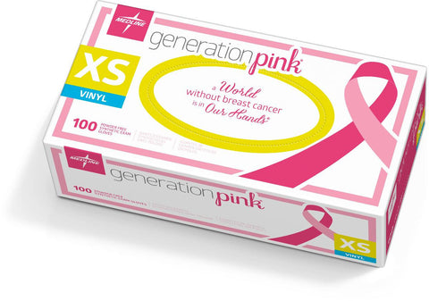 Generation Pink 3G Synthetic Exam Gloves,X-Small (case of 1000)