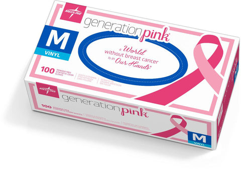 Generation Pink 3G Synthetic Exam Gloves,Medium (case of 1000)