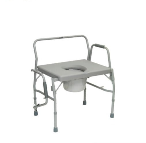 "Bariatric Drop-Arm Commode with 26"" Seat Width (1EA)"
