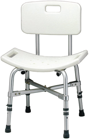 Heavy Duty Shower Chair with Back, 500lb