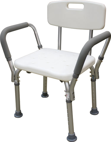 Adjustable Shower Chair with Back and Handles