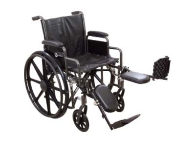 "K2-Lite Wheelchair with Removable Desk-Length Arms and Elevating Legrest, 18"" Seat Width"