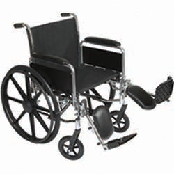 "K3-Lite Wheelchair with Removable Desk-Length Arms and Elevating Legrest, 18"" Seat Width (1EA)"