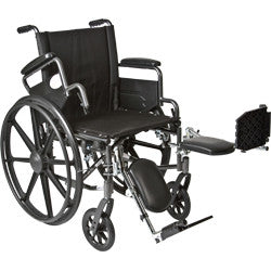 "K4-Lite Wheelchair with Flip Back, Desk-Length Arms and Elevating Legrest, 20"" Seat Width"