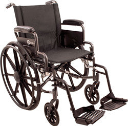 "K4-Lite Wheelchair with Flip Back, Desk-Length Arms and Swing-Away Footrest, 20"" Seat Width"