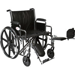 "K7-Lite Wheelchair with Removable Desk-Length Arms and Elevating Legrest, 24"" Seat Width"