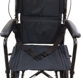 Transport Chair with 12-inch Rear Wheels, Aluminum Frame, Fixed Full-Length Arms and Swing-Away Footrests with Heel Loops (1EA)