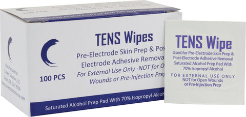 TENS Skin Prep Wipes (6000/Case) (5ml packets)