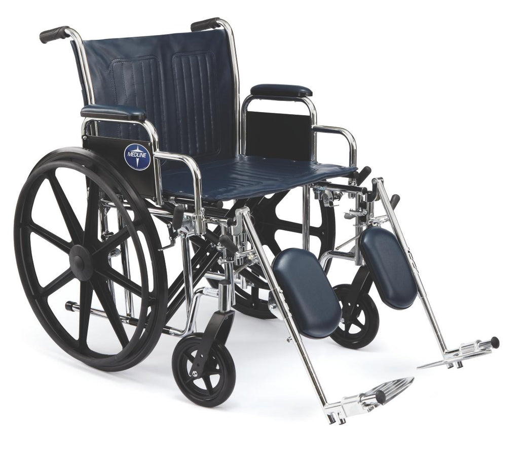 Extra-Wide Wheelchairs,Removable Desk Length Arm,Elevating Leg,20in Seat Width