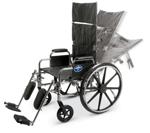 Reclining Wheelchairs,16in Seat Width (1EA)