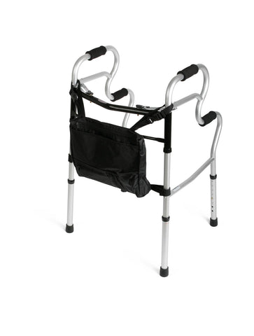 Adult Stand-Assist 3-in-1 Folding Two-Button Walker with Bag (case of 2)
