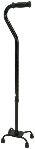 Heavy Duty Quad Cane Small Base, Black