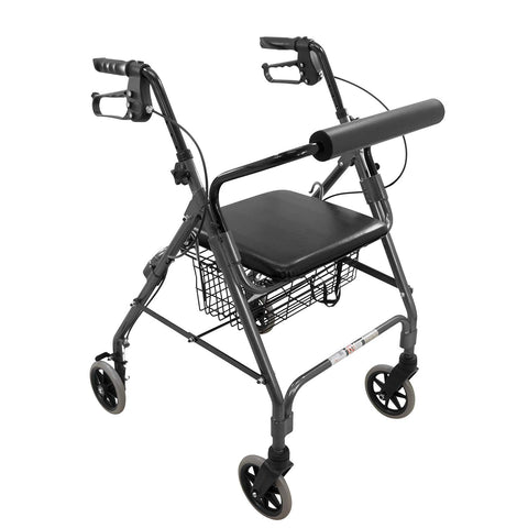 "ProBasics Aluminum Rollator with 6"" Wheels, Black (1EA)"