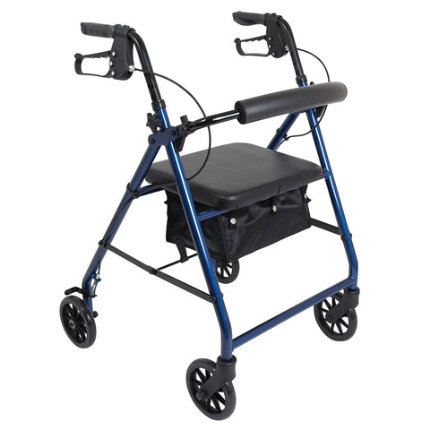 "ProBasics Aluminum Rollator with 6"" Wheels, Blue (1EA)"