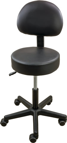 Pneumatic Air Stool With Backseat